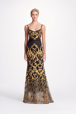 Evening Gown Marchesa Notte Robe Soiree