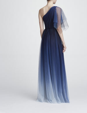 Robe longue de soirée Robe de Bal Marchesa Notte One shoulder evening gown