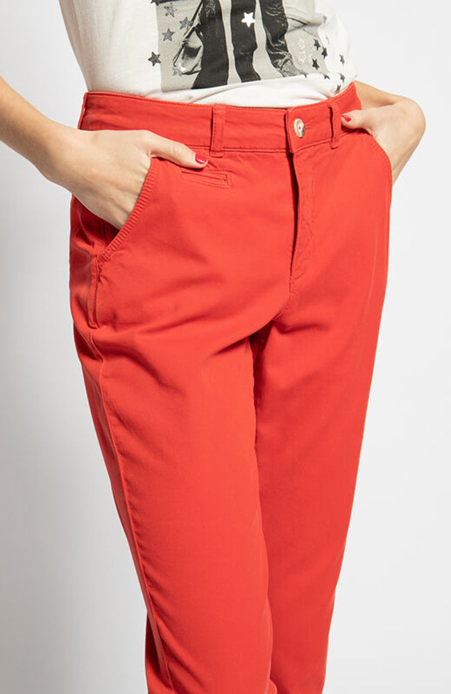 Oui Red Scarlet Pants Jeans