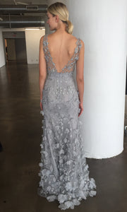 Silver Gown Evening Dress