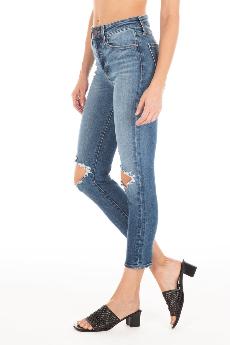 FIDELITY Pixie Crop High Rise Jeans skinny taille haute
