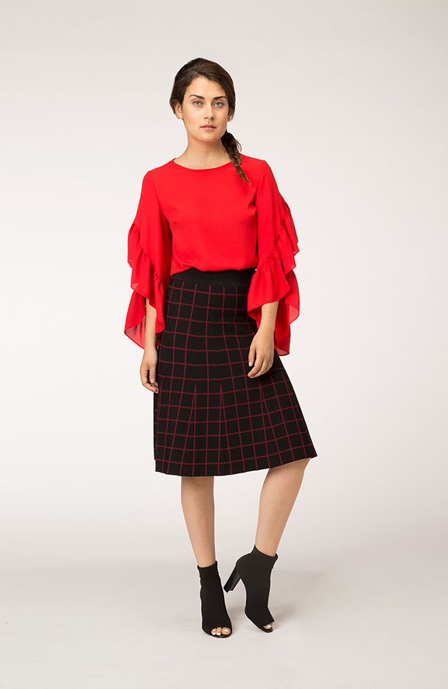 Plaid and Flair Skirt. Jupe évasée à carreaux