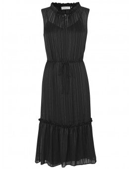 Rosemunde Sleeveless Dress with Flounce. Robe