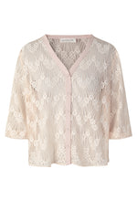 Rosemunde Lydia V-Neck 3/4 Sleeve Lace Blouse Dentelle