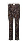 Rosemunde Lilly Pleated Elastic Waist Pantalon Black Acorn