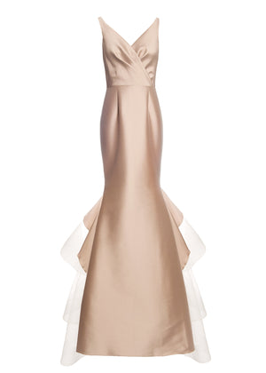 SACHIN & BABI V-neck Mermaid Gown Robe style sirène