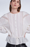 SET Delicate Cotton Voile Lace Blouse