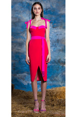 LUCIAN MATIS Day Dress with Bow Tie Straps