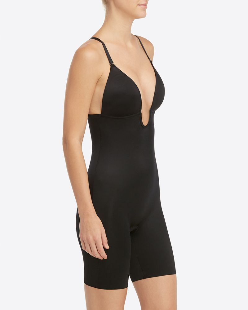 Plunge Bodysuit Black