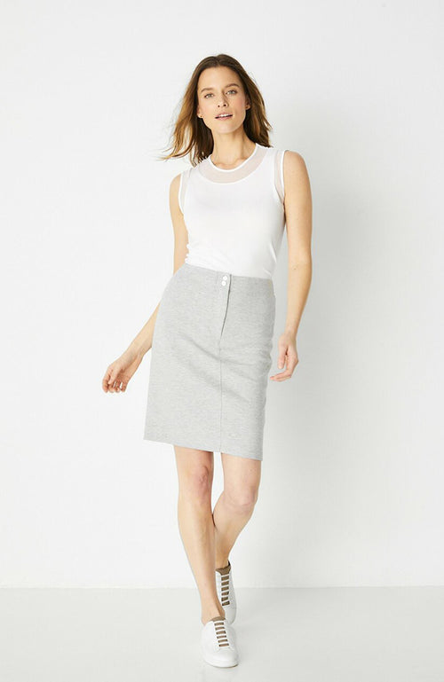 Jupe en tricot Anatomie Jolly Stretch Knit Pencil Skirt Gray