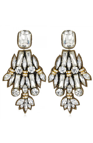 SUZANNA DAI Petra Large Drop Earrings Boucles d'oreilles