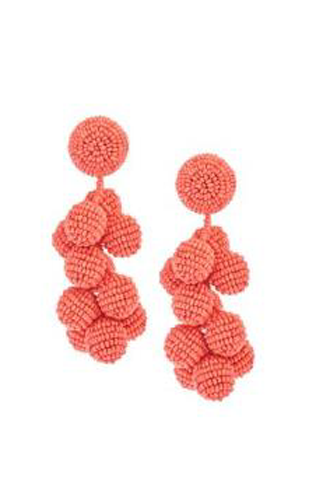 SACHIN & BABI Coconut Earrings Pendants d'oreilles Clip or Post earrings.