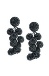 Sachin& Babi Designer Earrings Coconut Gunmetal. Boucles d'oreilles