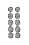 SACHIN & BABI Regal 5 Drop Silver Pendants d'oreilles argentees