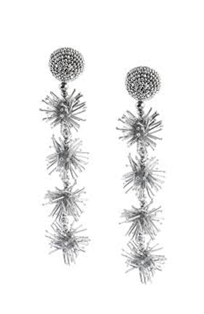 SACHIN & BABI Sparklers Earrings Jet Pendants d'oreilles noire