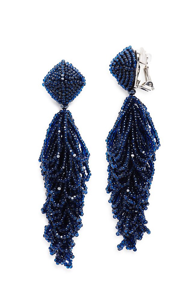 SACHIN & BABI Lulu Earrings Navy Pendants d'oreilles bleu marine
