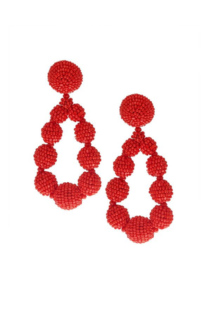SACHIN & BABI Beaded Teardrop Earrings Gojiberry Boucles d'oreilles