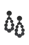 Boucles d'oreilles noire par SACHIN & BABI Beaded Teardrop Earrings Jet Black