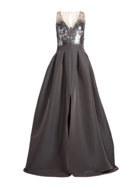 Sachin & Babi Ball Gown in Sequin and Silk Full Skirt