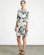 Frascara Floral Silk Robe Cocktail Dress