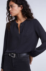 SET Crew Neck Modal Blouse with Buttons