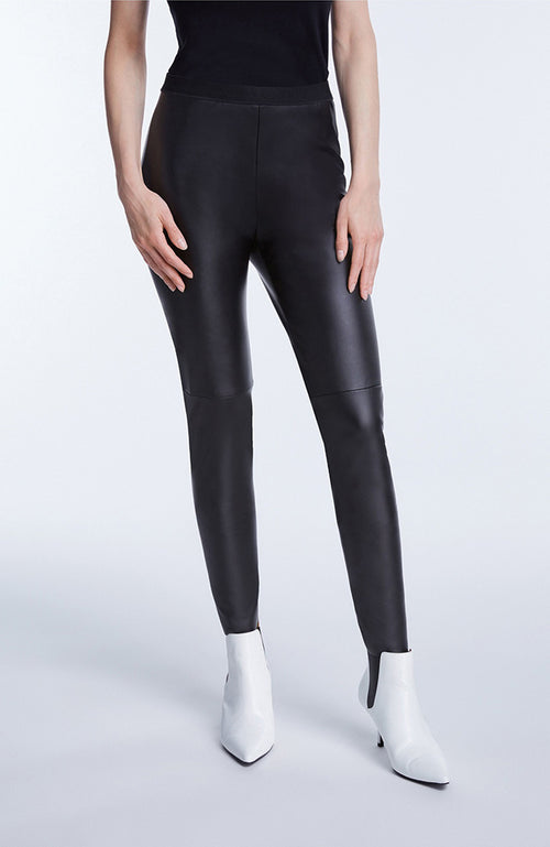 Set Vegan Leather Black Leggings faux cuir noir