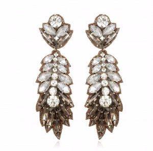 Bridal Crystal Earrings Boucles d'oreilles designer Suzanna Dai