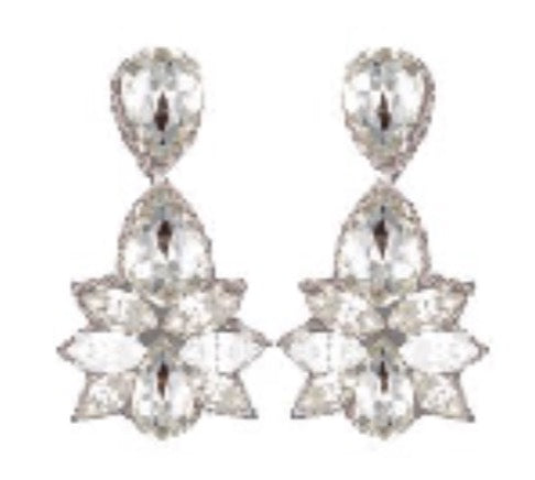 Bridal Crystal Drop Earrings Pendants d'oreilles designer