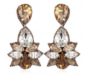 SUZANNA DAI Khepri Crystal Earrings Pendants d'oreilles