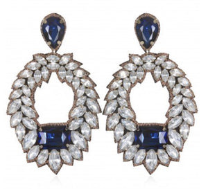 Designer SUZANNA DAI Victoria Crystal Earrings Pendants d'oreilles