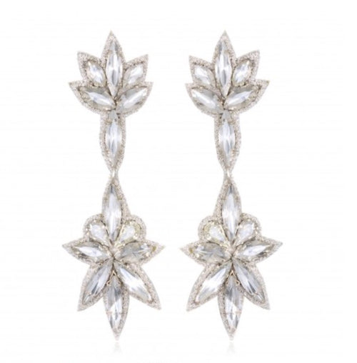 Bridal party Crystal Earrings Boucles d'oreilles Designer Suzanna Dai