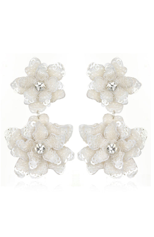 SUZANNA DAI Oaxaca Flower Drop Earrings Pendants d'oreilles