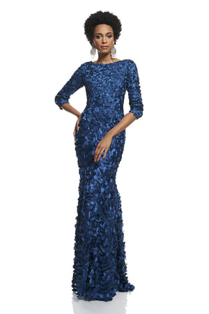 THEIA Mermaid Petal Gown Evening Dress Robe