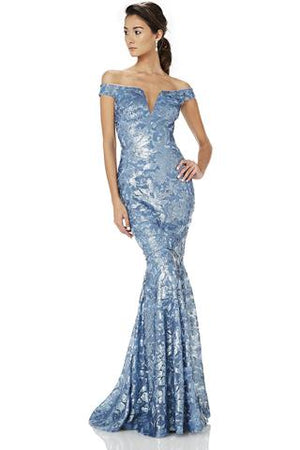 THEIA Sequin Mermaid Gown. Robe sirène