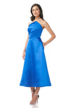 THEIA Zibeline Midi Dress Blue