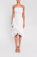 Strapless Mini Dress White Robe Blanche