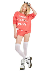 Wildfox Rose Sommers Sweater Rose Sil Vous Plait