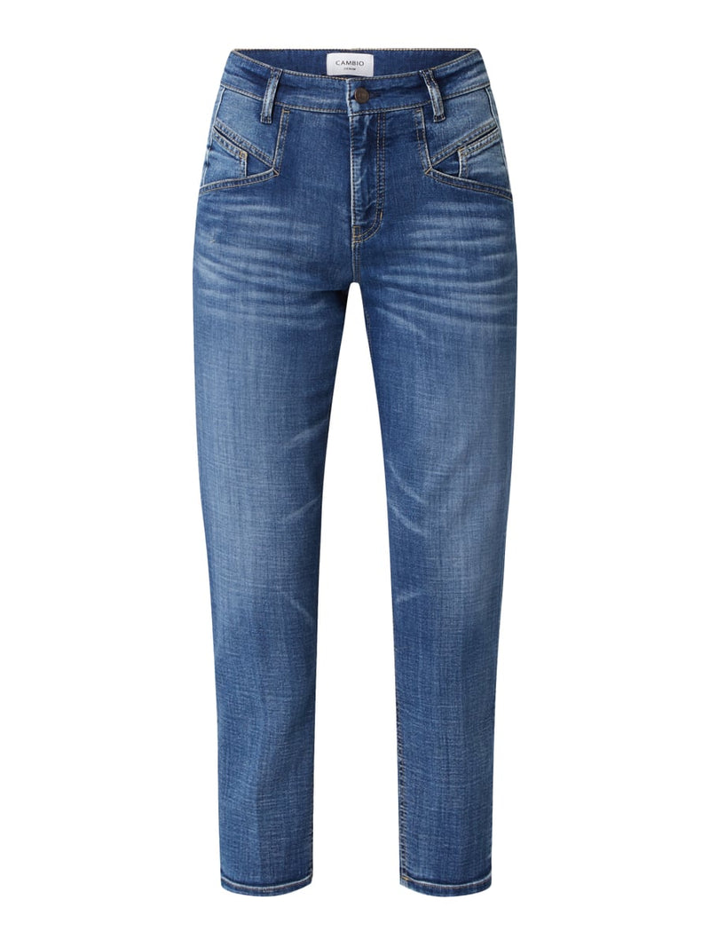CAMBIO Kasey Mom Fit Blue Denim Jeans