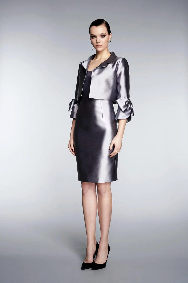 FRASCARA Jacket and Dress Ensemble Silk & Wool. Robe de soirée et blazer