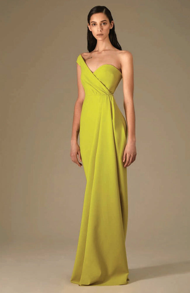 Greta Constantine Vedast Asymetric One shoulder Gown