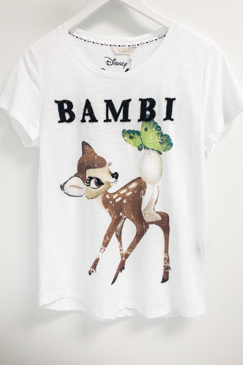 Frogbox Bambi T-Shirt with Beading and Rhinestones