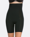 Spanx Black High Waisted Mid-Thigh Short mi-cuisse taille haute noir