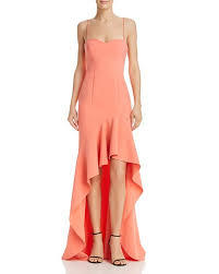 LIKELY Peach Gown. Robe longue
