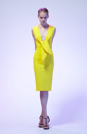 Greta Constantine Charo Yellow Dress Robe Jaune