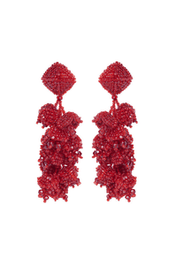 Sachin & Babi Grape Earrings Red. Pendants d'oreilles rouge
