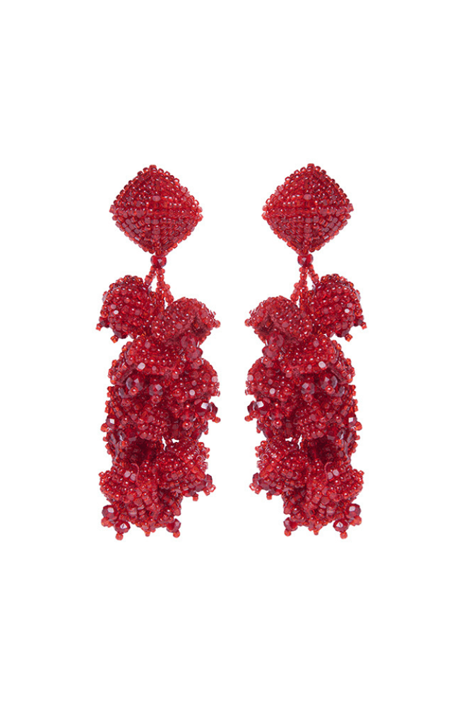 Designer Sachin & Babi Grape Earrings Pendants d'oreilles