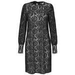 Lace dress with back bow Black. Robe en dentelle noire