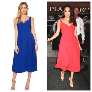 JILL STUART MEGHAN ROYAL BLUE DRESS