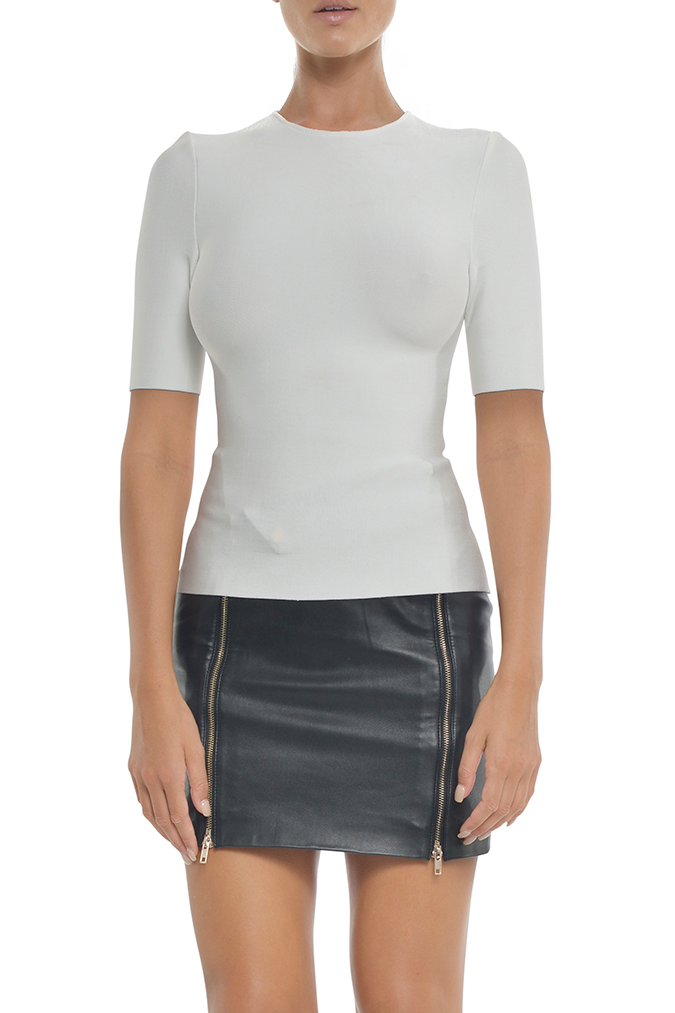 Audra Bandage Top Short Sleeves | Haut bandage manches courtes