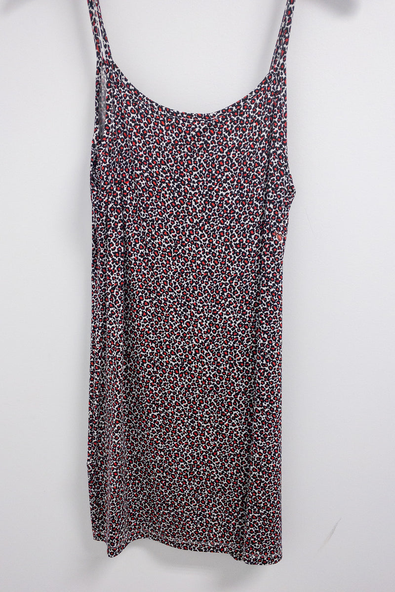 Liu Jo Printed Flowy Textured Dress Zipper Front Detail